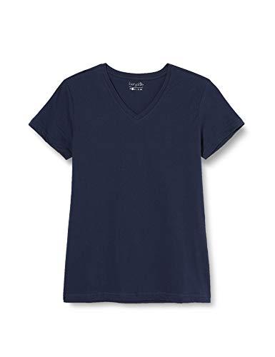 Berydale Damen T-Shirt mit V-Ausschnitt, 3er Pack, Blau (Blau - 3er Pack), X-Large