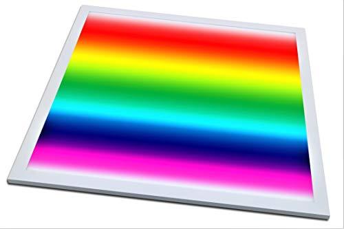 Panel LED de techo regulable I 62 x 62 cm I 36 W I 2880 lúmenes I Ultra Slim I Control de color RGB + CCT I Incluye transformador y mando a distancia I 50.000 horas de funcionamiento I Bajo consumo