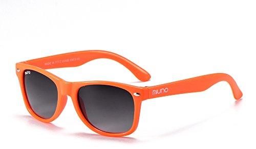 Miuno Miuno® Kinder Sonnenbrille Wayfare für Jungen und Mädchen Etui 2688 (Orange)
