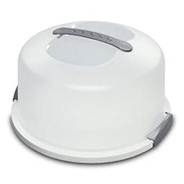 Sterilite 2008004 Cake Server, White - 2-pack