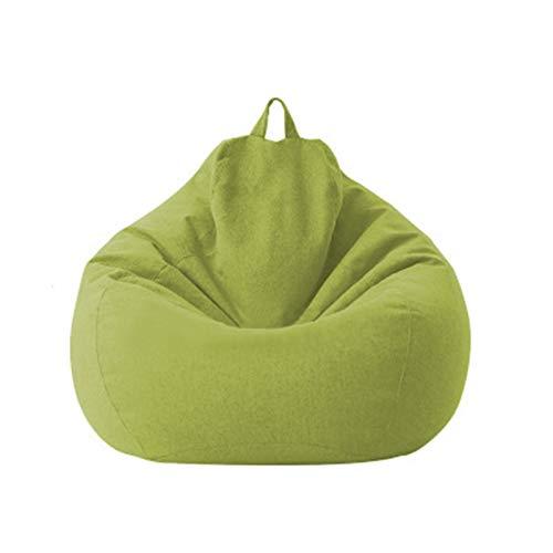 DEMXYA Cubierta de sofá Sofás Perezoso Cubierta de tumbonas Bolsa de Frijoles de Asiento Puff sofá Tatami Sillas Cubiertas (Color : Matcha Green, Specification : L 100 x 120 CM)