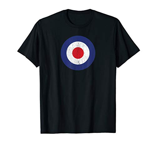 RAF Roundel Mod Target Bullseye Logo Symbol T-Shirt