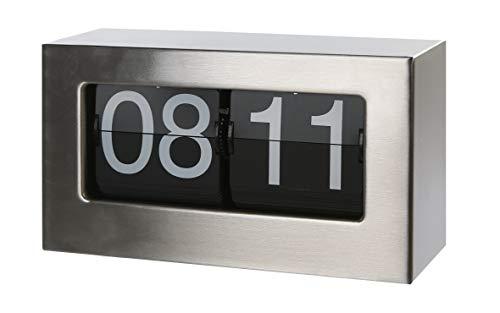 Casablanca - Uhr - Edelstahl mit Flip Display zum Hängen oder Stellen B 21 cm