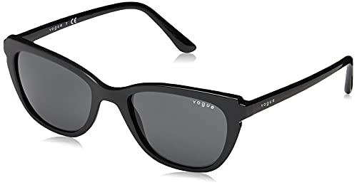 Vogue Eyewear Women's VO5293S Pillow Sunglasses, Black/Grey, 53 mm