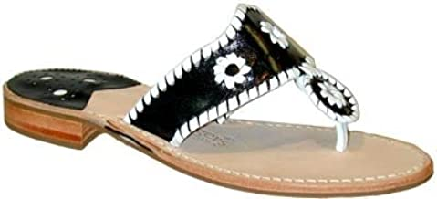 Jack Rogers Navajo Women's Black/White Thong Sandals