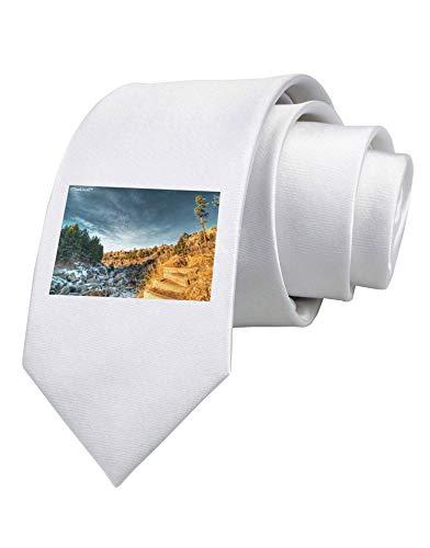 Cravatta bianca stampata Castlewood Canyon