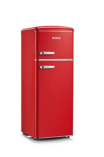 Severin RKG 8930 Nevera y congelador Independiente Rojo Frigorífico (208 L, N-ST, 39 dB(C), 2,5 kg/24h,