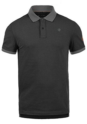 Blend Ralf Herren Poloshirt Polohemd T-Shirt Shirt Mit Polokragen Aus 100% Baumwolle, Größe:XL, Farbe:Black (70155)