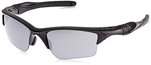 Oakley Men's OO9154 Half Jacket 2.0 XL Rectangular Sunglasses, Polished Black/Black Iridium, 62 mm
