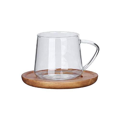 Euopat Glazen Thee Beker, Hoge Borosilicaat Koffie Glas Beker, Hoogwaardige Koffie Beker Transparant Hoge Temperatuur Resistant Beker, Glas Karaf Voor Hete En Iced Thee Water Sap Drank (300ml/450ml)