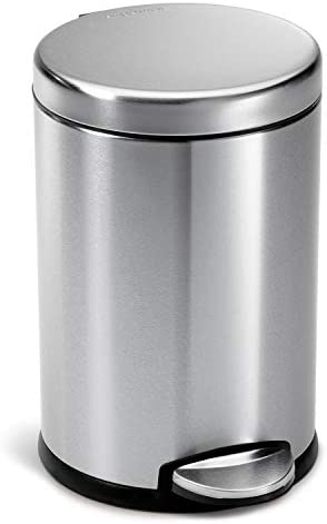 Best Gallon Round Simple-human Stainless Steel Trash Can for Bathroom