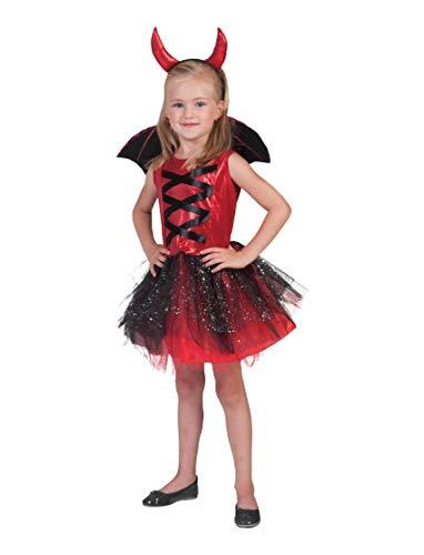Generique - Teufel-Kostüm mit Tüll für Mädchen