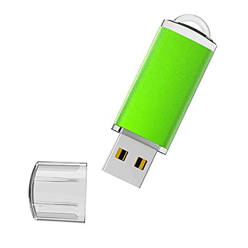 Vansuny Chiavetta USB 64 GB, Pendrive USB 2.0 LED, Penna USB 64GB Musica, Pennatta con Cappuccio, USB Flash Drive per PC Xbox One Console di Gioco per Lavoro e Scuola (Verde)