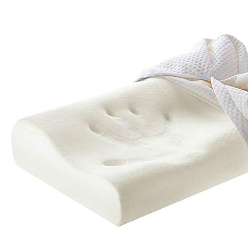 yywl Almohada de espuma viscoelástica para dormir y viajar. Protege el cuello lentamente. Masajeador ortopédico para el cuidado de la salud cervical.