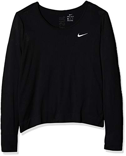 Nike Damen Infinite Langarmshirt, Black/Reflective Silver, S