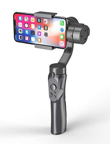 Studyset - Stabilizzatore cardanico Portatile a 3 Assi, per iPhone X, 8Plus, 8, 7, Android