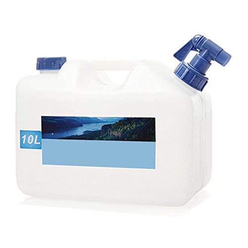 Cubo portátil, Regadera con Gallo automóvil Agua Potable Depósito de Agua Depósito de Agua Cámping- Frasco Depósito de Agua, para el Beber en el Al Aire Libre o para Casa,10L