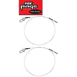 Fox Rage 1 x 19 Beach Surefit Leader – 2 bas de ligne en acier pour brochet, bas de ligne en acier pour la pêche au…