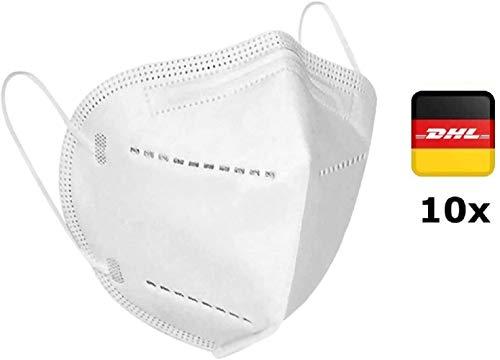 10x Atemschutz Maske Premium mit eingenähtem Nasenclip Mund und Nasenschutz Mundschutz Atemmaske - Schutzmaske mit Filterleistung 95% von Jiangsu Tongkang Carbon