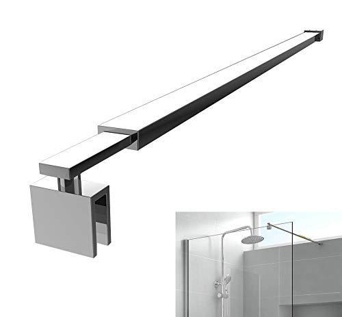 Haltestange für Duschwand Stabilisator Dusche Duschwände mit Glasstärke 8-10mm, Stabilisierungsstange Edelstahl 700-1200mm Eckig ohne Gelenk