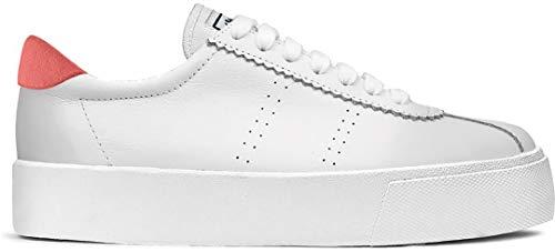 Superga 2854 Club 3 LEASUEW Schuh 2021 White/red/Coral, 39