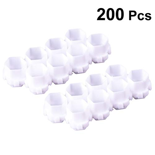 Healifty 200Pcs Tatouage Encre Tasse Pigment Tasse Spliceable Nid D'abeille Encre Tasse Blanc