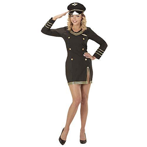 Widmann wdm06850 ? Déguisement Capitaine pilote, noir, XXL