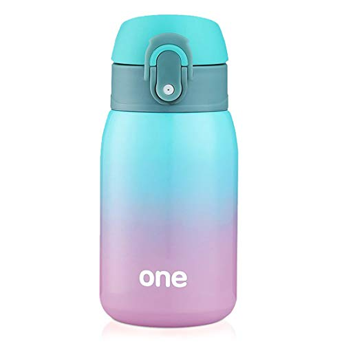 Kids Water Bottle, Double Wall Vacuum Insulated Stainless Steel Bottle, 9oz.