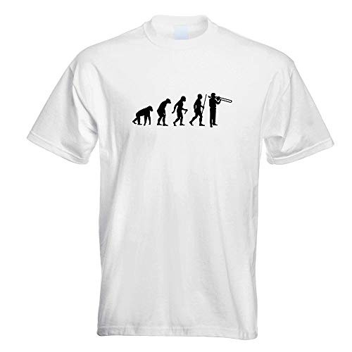Posaune Trompete Evolution T-Shirt Motiv Bedruckt Funshirt Design Print