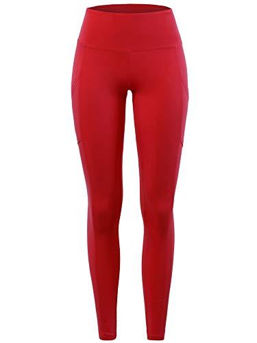 A2Y High Waist Super Soft Cotton Full Length Leggings Ruby XL