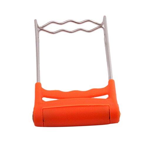Adarl Kitchen Plate Bowl Dish Pot Anti-Scald Holder Carrier Clamp Clip Orange