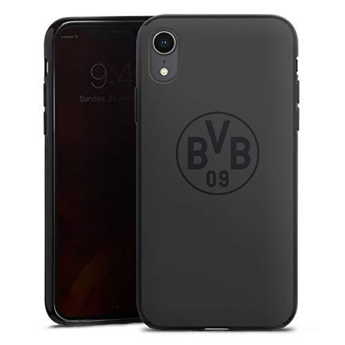 DeinDesign Silikon Hülle kompatibel mit Apple iPhone Xr Case schwarz Handyhülle Borussia Dortmund Logo BVB