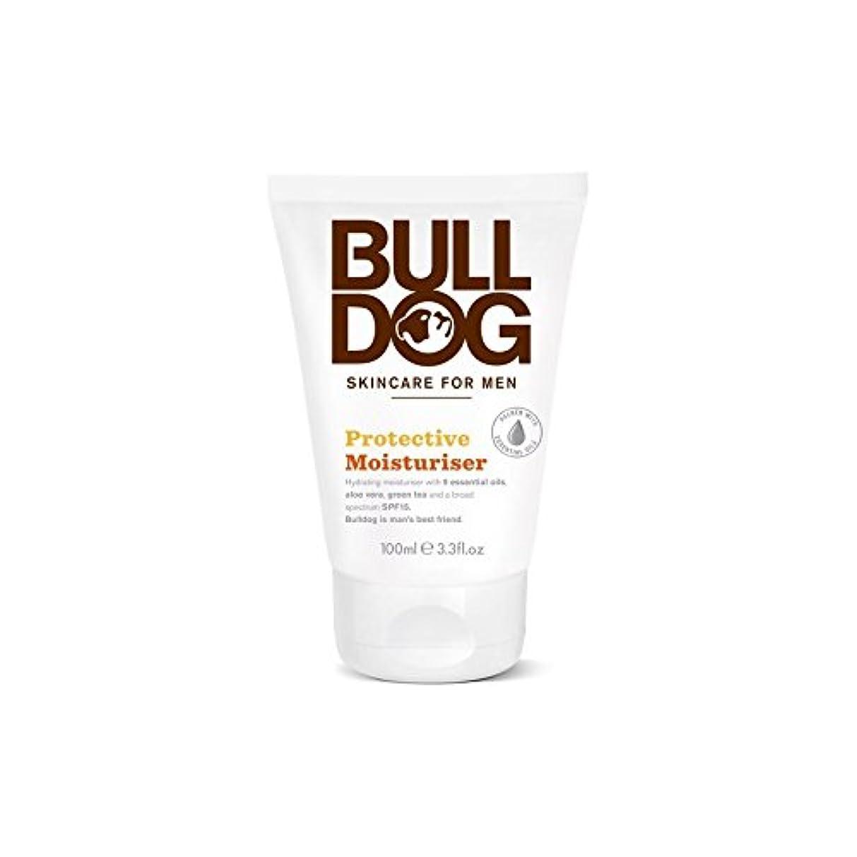 動的病なロック解除ブルドッグ保護保湿成分(100ミリリットル) x2 - Bulldog Protective Moisturiser (100ml) (Pack of 2) [並行輸入品]