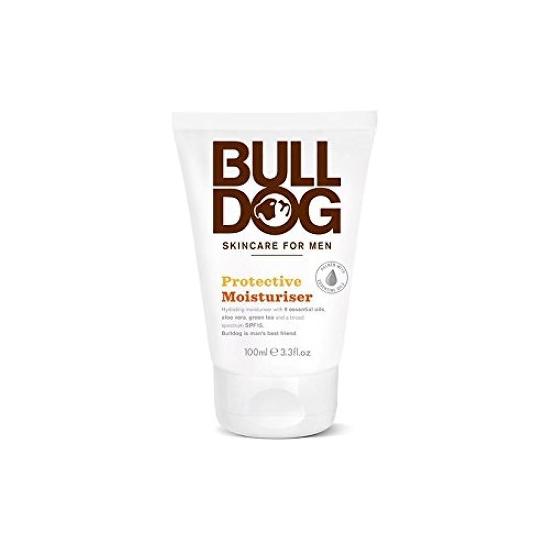 薄汚い遊びますクラウンブルドッグ保護保湿成分(100ミリリットル) x4 - Bulldog Protective Moisturiser (100ml) (Pack of 4) [並行輸入品]