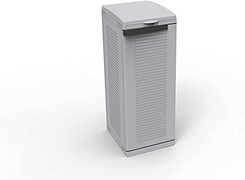 Terry, Ecocab 1, Armario para la Recogida Selectiva de Residuos, 1 Compartimento. Gris, 34.5x39x88.7 cm