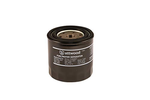 Attwood 11841-4 Universal 10-Micron Fuel/Water Separator Filter with Double Gasket, Unspecified