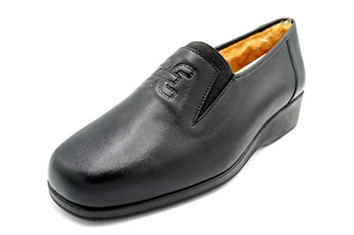 Drucker 934 Negro - Zapato Piel con Abrigo (42 EU)
