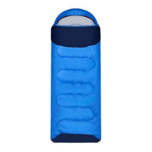DGHJK Saco de Dormir para Exteriores, Saco de Dormir Individual de 3 Estaciones para Adultos y niños, Compacto, liviano, Resistente al Agua; Incluye Bolsa de compresor Gratis