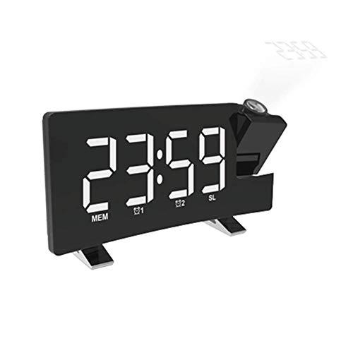 DealMux reloj despertador reloj despertador analógico reloj despertador digital digital en la cama reloj de dormitorio reloj despertador de proyección reloj LED reloj digital reloj despertador noctur