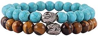 Aatm Natural Healing Gemstone Multi Stone Bracelet Buddha Beaded Charm Bracelet