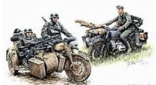 Masterbox 1 35 Scale Kradschutzen Gerhomme Motorcycle Troops on The Move by Masterbox