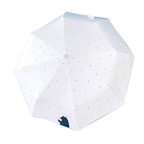 fgyhty Vento Outdoor resistente Auto pioggia ombrello del fumetto Design 3 pieghevole parasole anti luce UV Parasol Portable