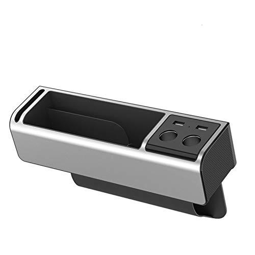 MONALA Bolsa de almacenamiento para asientos de coche, con carga universal, para guardar carteras, teléfonos móviles, llaves, monedas, 1 unidad, color plateado