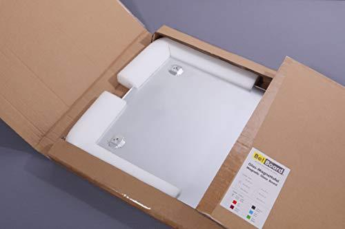 Be!Board B1300 Große Glas-Magnettafel / Whiteboard rein-weiß, 90 x 60 cm - 6