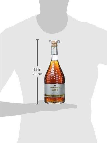 TORRES BRANDY 20 SUPERIOR BRANDY Hors d'Age (1x 0,7l) - spanischer Brandy aus der Weinbauregion Penedès – in statischer Lagerung gereift – 70cl mit 40% vol. - 2