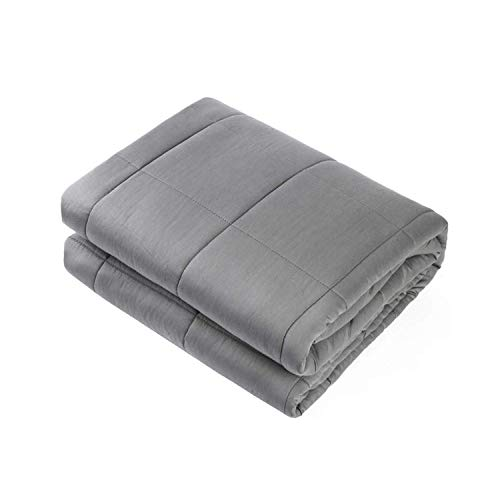 "Adult Weighted Blanket Queen Size(15lbs 60""x80"") Heavy Blanket with Premium Glass Beads, (Dark Grey)"