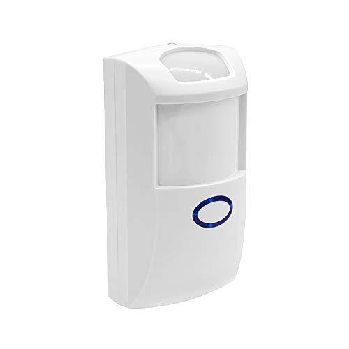 KKmoon PIR2 Automatische PIR-bewegingsmelder met infrarood dual-infrarood bewegingsmelder RF 433 MHz alarmsysteem Domotische veiligheid compatibel met Alexa Google Home