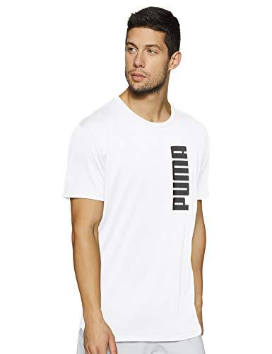 PUMA Herren Energy Triblend Graphic Tee T-Shirt, White, L