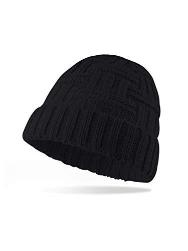 MessBebe Hombres Mujeres Gorros de Punto Invierno Sombreros de Punto Unisexo Diadema de Moda Otoño Crochet Sombrero Caliente Gorro Grueso y Holgado Casuales para Navidad Año Nuevo Regalo