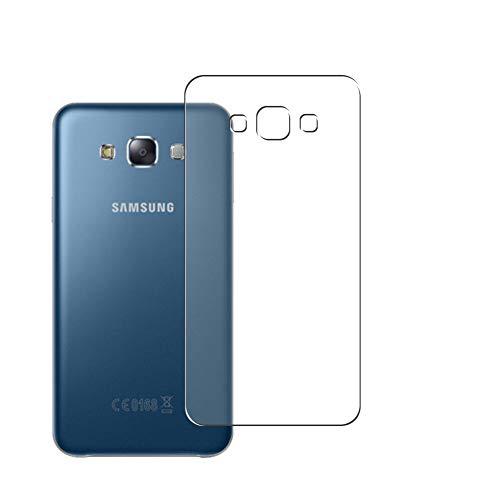 Vaxson 2 Stück Rückseite Schutzfolie, kompatibel mit Samsung Galaxy E7, Backcover Skin TPU Folie [nicht Panzerglas/nicht Front Bildschirmschutzfolie]